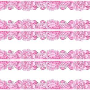 Large Pink Flowers Mirror