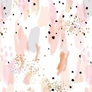 abstract paint strokes-blush