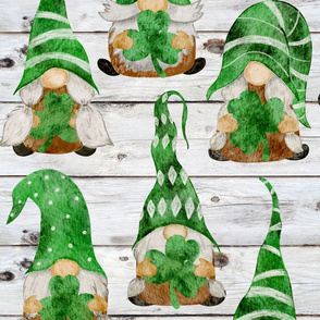 Irish Gnomes on Shiplap - large scale