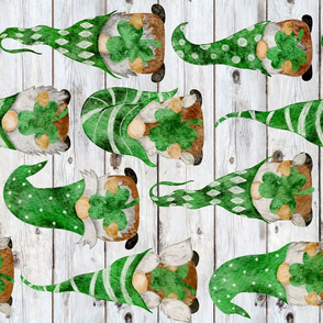 Irish Gnomes on Shiplap Rotated - large scale