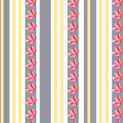Petal stripe grey yellow