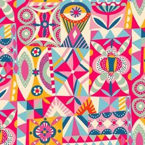 geometric playground // pink