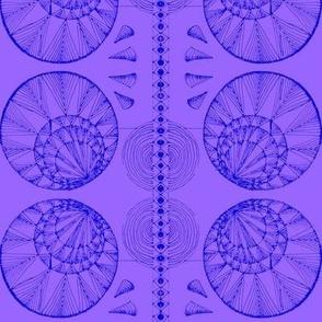 Geometric Blue on violet