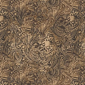 Brown Tooled Leather