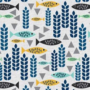 geometric modern fish
