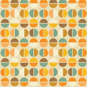 Mod Abstract Circle Earth Beige