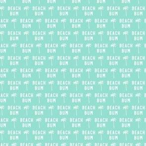 (micro scale) beach bum - teal - C21