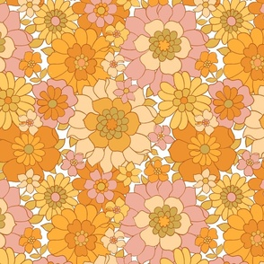 Avery Retro Floral on White-medium scale