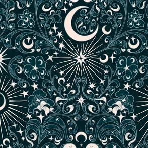 Moon Star Damask