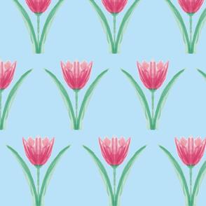 Tulip symmetrie blue
