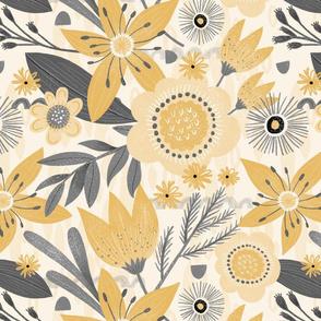 Yellow & Grey Floral Fun