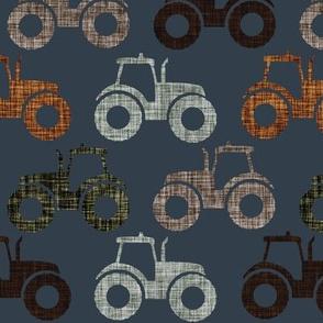 tractors: 174-16, laurel, mud, brown, green olive, umber