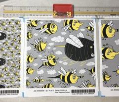 traffic jam, bee style! jumbo large scale, yellow gray grey black white