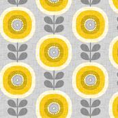 midcentury sunflowers