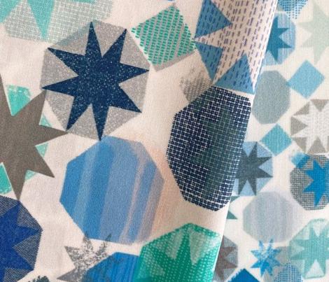 patchwork stars / pink blue