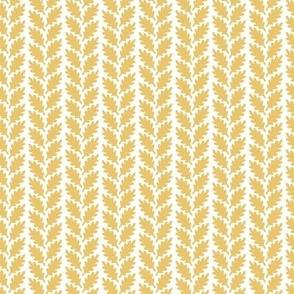 Leaf Herringbone - Mustard, Small scale