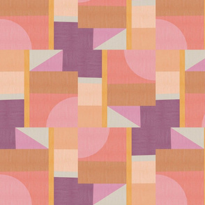 Modern patchwork pink and purple