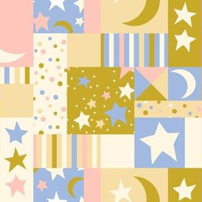 Twinkling Patchwork -Gold