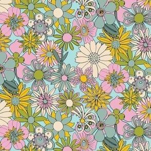 Chelsea* (Sabrina) || vintage 60s 70s enamel pin brooch flower floral garden pastel sheet illustration spring summer pastel