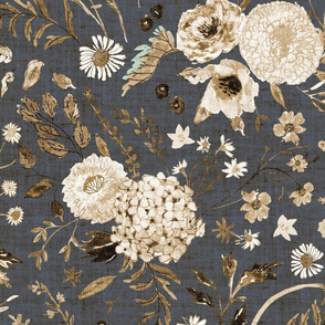 Sonetto Floral (brown) JUMBO