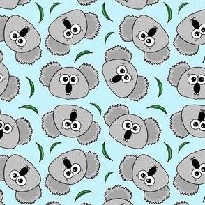 Cute Koalas - on baby blue