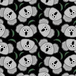 Cute Koalas - on black