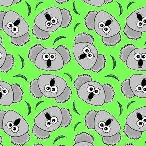 Cute Koalas - on green