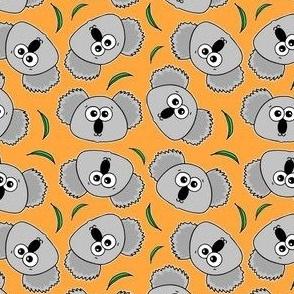 Cute Koalas - on orange