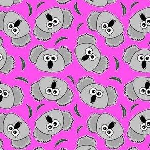 Cute Koalas - on pink