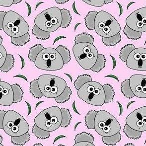 Cute Koalas - on baby pink