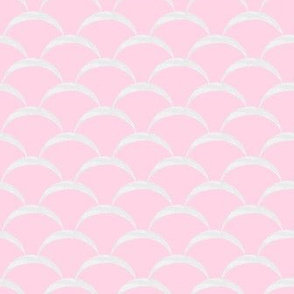 fish scales scallop - pink