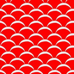 fish scales scallop - red