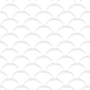 fish scales scallop - white