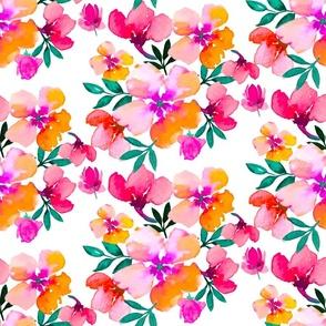 Bright coloured florals springtime