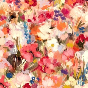 Painterly Abstract Floral