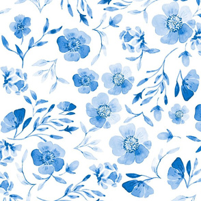 Chinoiserie Blue Floral