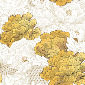 Oriental floral pattern in Japanese style