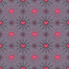 Pink and Gray Hearts