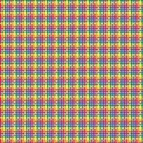 Rainbow Plaid - Extra Extra Small (Rainbow Collection)