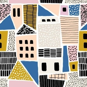 Abstract geometric city