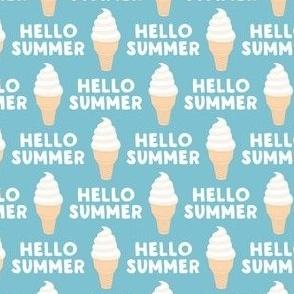 Hello Summer - Ice-cream cones - summer blue - LAD21