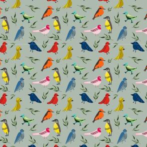 TROPICAL BIRDS GREEN