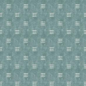 (small scale) triple dash - mud cloth - dusty blue - mudcloth farmhouse tribal - C21
