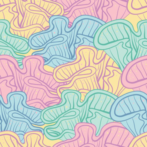 Colorful seaplants // lines and dots/ kids home decor
