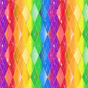 Very rainbow! Rainbow Argyle - Bright Rainbow Gay Pride Colors with Diamonds