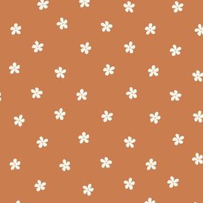 boho flowers - brown cottage core design