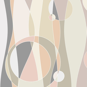 magical waves - abstract curves - modern neutrals