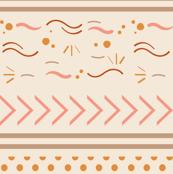Neutral pink geometric stripes