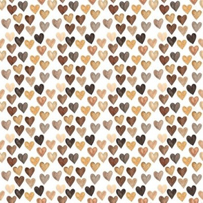 Black Lives Matter Brown Skin Color Hearts - XSmall Scale