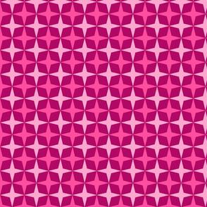 Geometric Pattern: Diamond Star: Berry
